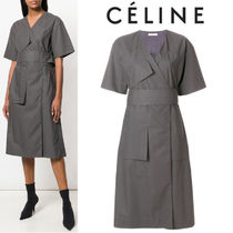 【18SS】大注目!!★CELINE★wrap front dress