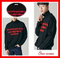 8 SECONDS(エイトセカンズ) ニット・セーター NEW★人気【8SECONDS】★ LETTERING KNIT PULLOVER ★