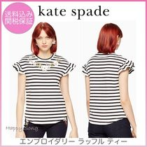 kate spade◆エンブロイダリーラッフル T◆embroidered ruffle