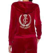 ☆JUICY COUTURE お洒落なベロアセットアップ(Beet Red)☆