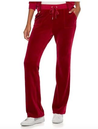 JUICY COUTURE セットアップ ☆JUICY COUTURE お洒落なベロアセットアップ(Beet Red)☆(2)
