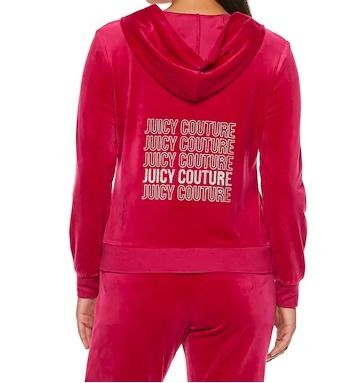 JUICY COUTURE セットアップ ☆JUICY COUTURE お洒落なベロアセットアップ(Beet Red)☆(3)
