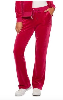 JUICY COUTURE セットアップ ☆JUICY COUTURE お洒落なベロアセットアップ(Beet Red)☆(4)