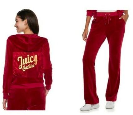 JUICY COUTURE セットアップ ☆JUICY COUTURE お洒落なベロアセットアップ(Beet Red)☆