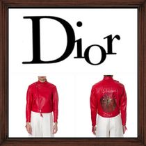 ★DIOR《 SHAMAN DISCS RED LEATHER JACKET 》送料込み★