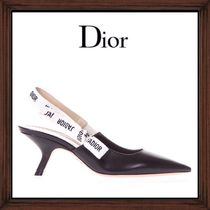 ★DIOR《 SLING BACK DECOLLETE IN LEATHER LOGO》送料込み★