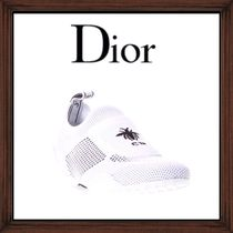 ★DIOR《  WHITE LOGO BEE EMBROIDERED SNEAKERS  》送料込み★
