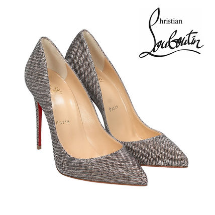 追跡あり☆CHRISTIAN LOUBOUTIN PIGALLE FOLLIES GLITTER PUMPS