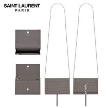 【正規品保証】SAINT LAURENT★18春夏★TASSEL CHAIN WALLET_FOG