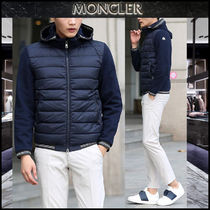 【MONCLER】17AW ロゴパッチ 異素材MIX フードジップアップ/EMS