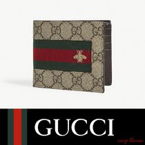 【国内発送】GUCCI 財布 Bee web stripe GG Supreme wallet