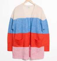 """""""& Other Stories""""Mohair & Wool Oversized Cardigan Red"""