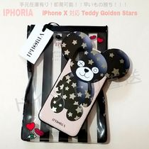 SALE★Teddy Golden Stars【送込 IPHORIA】iPhone X★テディ&星