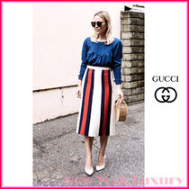 GUCCI★グッチ★素敵!Web Striped Skirt