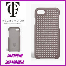 ☆THE CASE FACTORY☆NAPPA TAUPE SILVER STUDS iPhone7/8