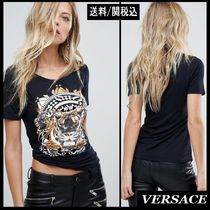 【Versace】Jeans Foil Logo T-Shirt タイガープリント T-シャツ