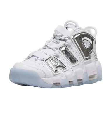 Nike スニーカー UNISEX希少WMNS!! ☆ Nike More Uptempo モアテン 白×Crome(2)