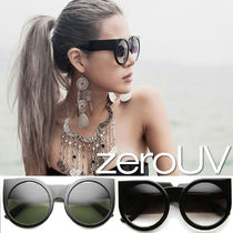 全9色*zeroUV*DESIGNER SUPER BOLD ROUND CAT EYE SUNGLASSES