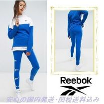Reebok☆Classics Lost & Found Repeat Print Leggings In Blue