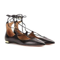 在庫SALE!AQUAZZURA(アクアズーラ) Christy Flat Black