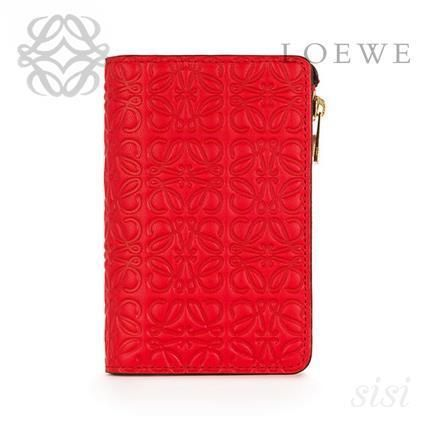 LOEWE★ロエベ Small Zip Wallet Primary Red