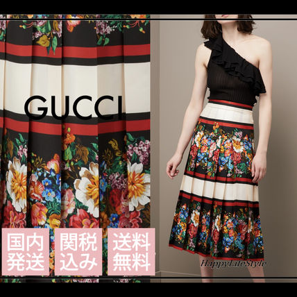 lovely♪◇Josephine Print シルク スカート◇GUCCI