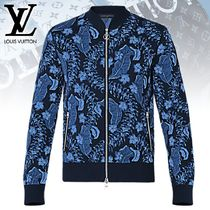 【直営店買付】Louis Vuitton BLOUSON EN JACQUARD MOTIF LEAVES