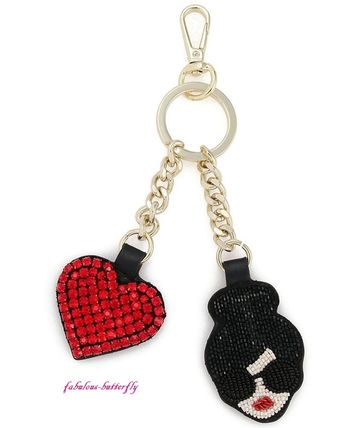 国内発送 Alice+Olivia STACE FACE HEART KEYCHARM キーホルダー