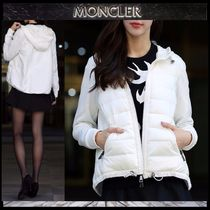 【MONCLER】17AW ダウンMIXフードジップアップブルゾンWHITE/EMS
