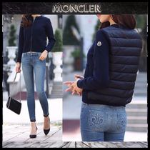 【MONCLER】17AW ダウンMIX ジップアップブルゾン NAVY/EMS直送