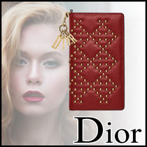直営!Christian Dior☆Lady Dior Redスタッズ iPhone7対応ケース