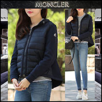 【MONCLER】17AW 異素材MIX ジップアップブルゾン NAVY/EMS直送