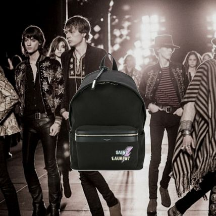 *SAINT LAURENT*PRINTED BACKPACK BLACK バックパック ブラック