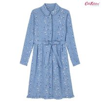 Cath Kidston☆FLAT VISCOSE SHIRT DRESS KITES SOFT BLUE