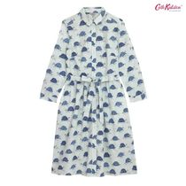 Cath Kidston☆COTTON SHIRT DRESS TORTOISE STRIPE PALE GREEN