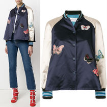 18SS V1009 BUTTERFLY EMBROIDERED BOMBER JACKET