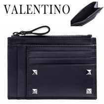 VALENTINO/正規品/EMS送料込み Rock Stud Pocket Card Wallet
