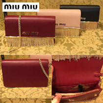 【正規品保証】MIUMIU★18春夏★5BP004_2E6Y_SOFT CALF_CERISE