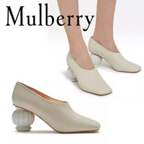 18SS☆送関込【Mulberry】Victoria Pump アンティークパンプス白