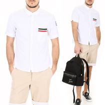 MONCLER GAMME BLEU Short-sleeved Cotton Shirt