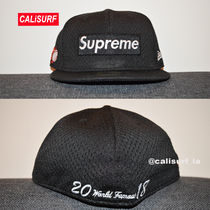 新作★SS18 Supreme Mesh Box Logo New Era /black/size 7 5/8