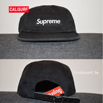 新作★SS18 Supreme Washed Chino Twill Camp Cap/BLACK