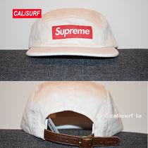 新作★SS18 Supreme Washed Chino Twill Camp Cap/WHITE