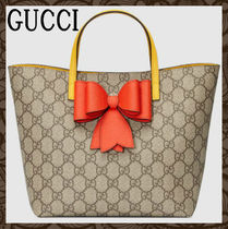 ★GUCCI◆GGキャンバスリボン付きわんちゃんのお散歩バッグ◆