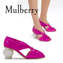 18SS新作☆送関込【Mulberry】ドレープパンプス☆ピンク