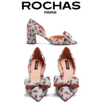 【18SS】大注目!!★Rochas★Floral brocade point-toe pumps