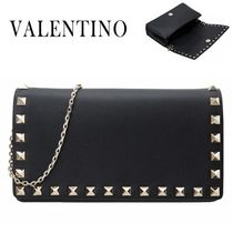 VALENTINO/正規品/EMS送料込み Rock Stud Chain clutch bag
