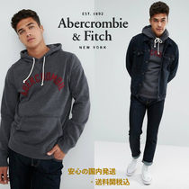 Abarcromie&Fitch☆ダークグレーのアーチロゴパーカー♪