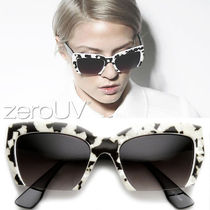 全4色*zeroUV*MARBLEIZED FAST FASHION HALF CUT FRAME CAT EYE