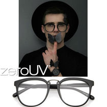 全4色*zeroUV*EUROPEAN DAPPER HORNED RIM CLEAR LENS GLASSES